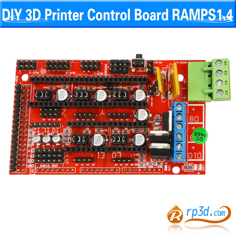 3D Printer Controller RAMPS 1.4 + Mega 2560 R3 + 5pcs A4988 +LCD